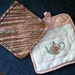 Pot holder and cotton dish cloth set.