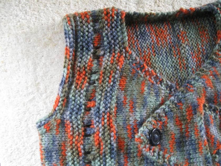 Unisex child waistcoat or sleeveless vest