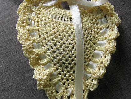 lavender crocheted sachets