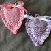 lavender crocheted sachets 2