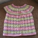 Rainbow cap sleeved cardigan for a little girl