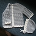 Jacket and bonnet for baby