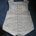 knitted baby rompers with front cable