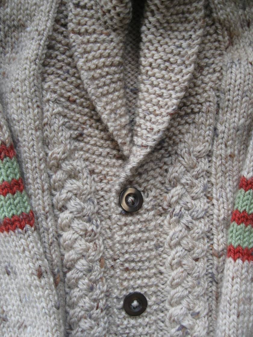 Child's Cardigan with shawl collar