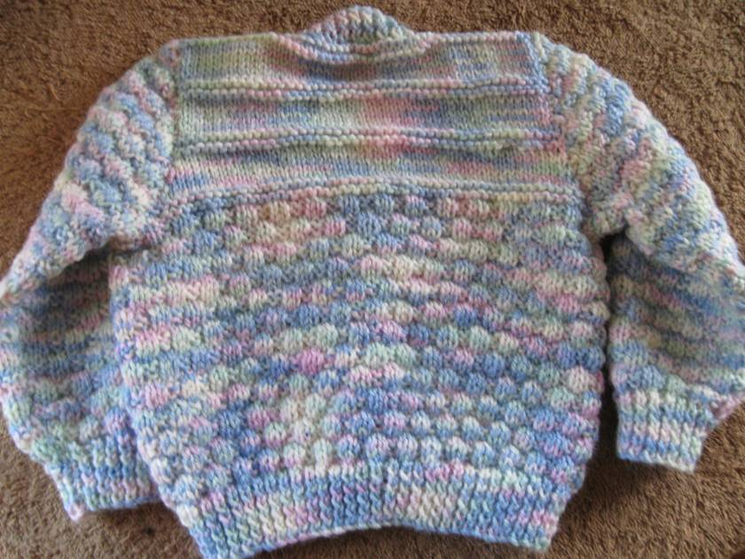 Cardigan and beanie for 1-2 year old.