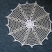 Crocheted multipurpose doily or jug cover with beads