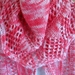 Knitted varigated pink scarf