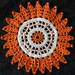 crochet doily with beads