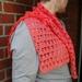 asymmetrical  crocheted shawlette