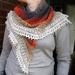Crocheted multi colour shawl