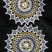 crochet doily/mandala set of 2