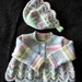 Cardigan and bonnet  for baby