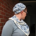 womens crocheted scarf and beanie set