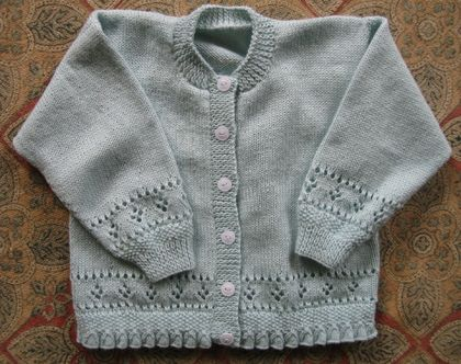 Childrens cardigan  with bell hem