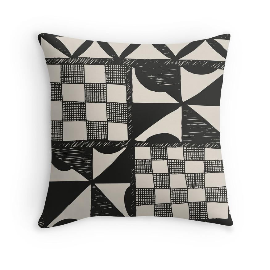 TAPA CLOTH PRINT Cushion Cover Tapa Cloth Print Throw Pillow