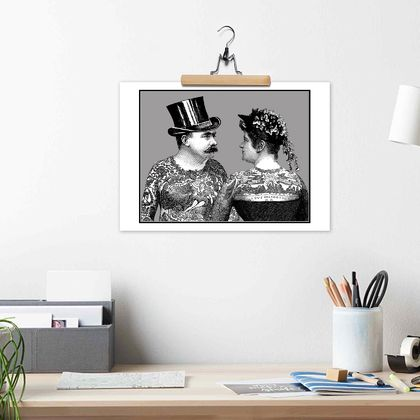 A3 | TATTOED VICTORIAN COUPLE - archival quality giclée art print