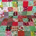 Patchwork throw (single) - vintage and upcycled fabric