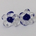 Handmade lampwork glass flower earrings: Simple glass bead stud earrings