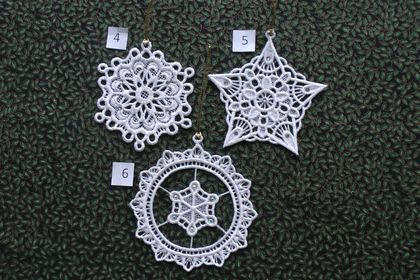 Lace Star & Snowflake Decorations (1) Felt