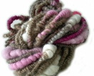 Winter Roses Handspun Art Yarn