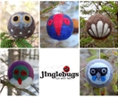Five needle-felted decorations - New Zealand birds