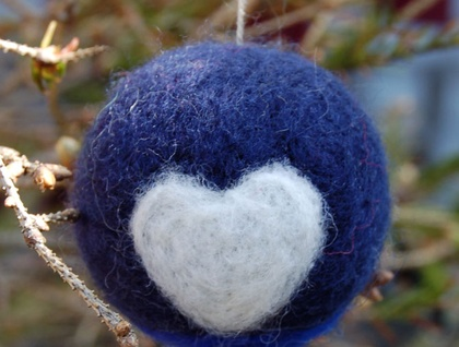 Felted wool decoration - pukeko