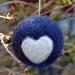 Felted wool decoration - pukeko