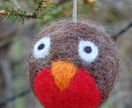 Felted Christmas decoration - robin red breast