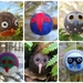 Four needle-felted decorations - New Zealand birds