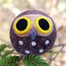 Felted wool decoration - ruru/morepork