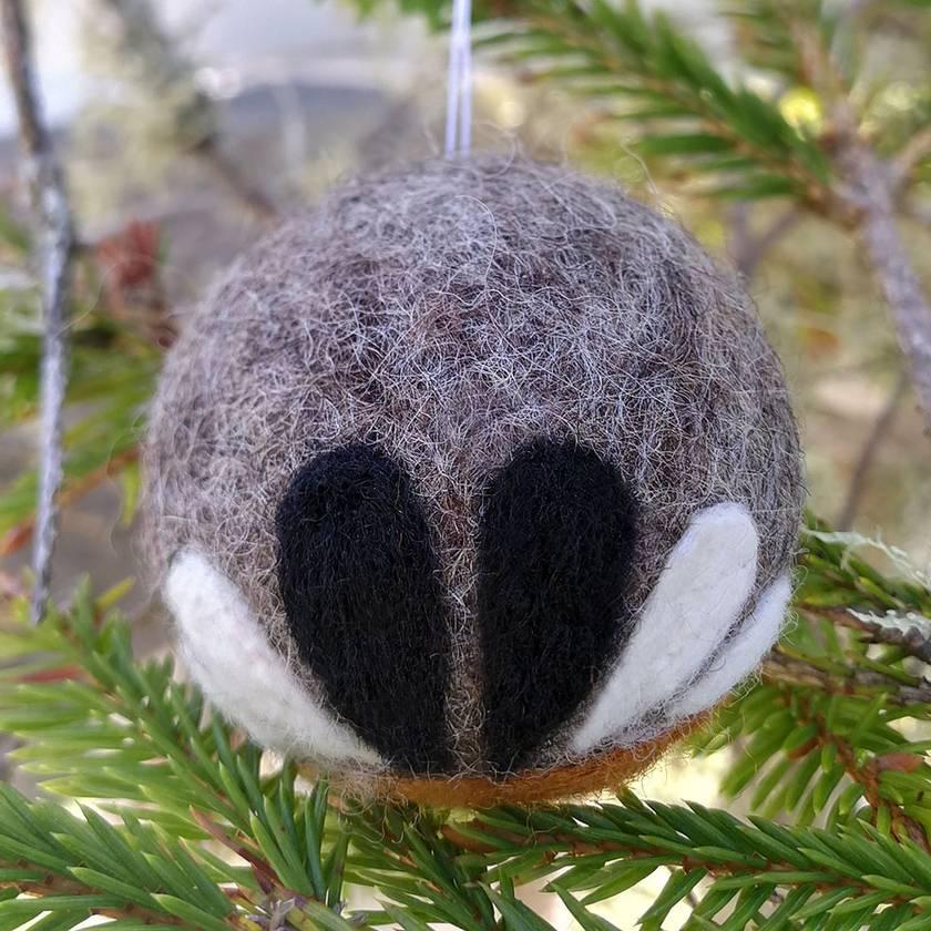 Needle felted decoration - piwakawaka/fantail
