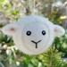 Felted wool lamb ornament