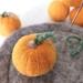 Felted wool pumpkin - orange