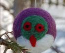 Felted wool decoration - kereru