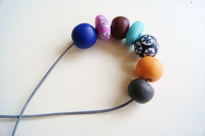 Brights polymer beaded necklace