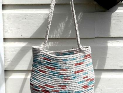 Cotton rope hand made shoulder bag