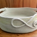"""Coiled cotton rope """"Squared off Basket"""