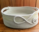 "Coiled cotton rope ""Squared off Basket"
