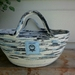 """Coiled rope bowl-""""The Blues"""""""