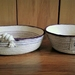 """Coiled cotton rope bowls- """"Plum Pair"""""""