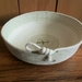 Coiled cotton rope bowl