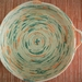 "Coiled cotton rope bowl -""Splotch"""