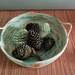 """Coiled cotton rope bowl -""""Splotch"""""""