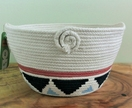 "Coiled cotton rope basket - ""Kilim"""