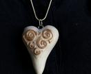 Gold Swirl Embellished Heart Pendant