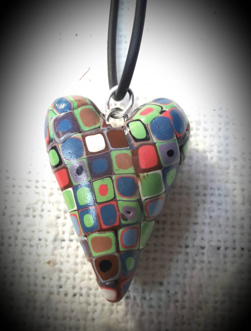 Pendant- Retro Whimsical Heart