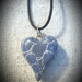 Pendant - whimsical Heart in blue and white