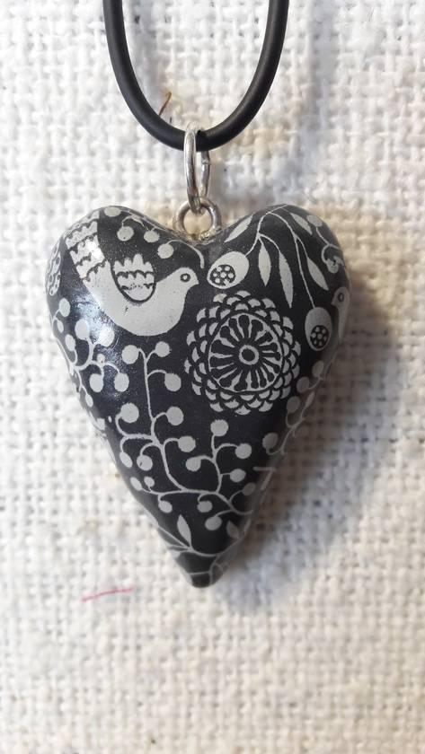 Pendant - whimsical Heart.