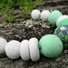 Mint white and retro colour statement bead necklace