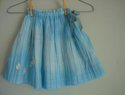 Floaty raindrops skirt